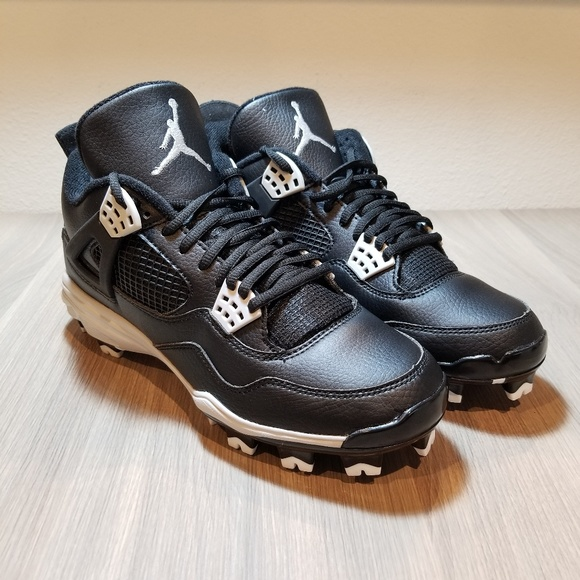 2956a30830b7 Nike Air Jordan 4 Iv Retro Baseball Cleats Oreo